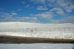 Landschap Sneeuw Royalty-vrije Stock Afbeelding