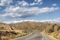 Landschap in Spanje bij de zomer Stock Afbeelding