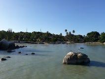 Landschap in Strand Parai Tenggiri Royalty-vrije Stock Foto