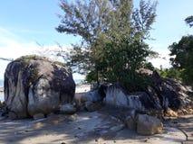 Landschap in Strand Parai Tenggiri stock foto