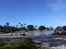 Landschap in Strand Parai Tenggiri royalty-vrije stock fotografie