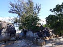 Landschap in Strand Parai Tenggiri stock afbeelding