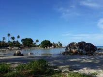 Landschap in Strand Parai Tenggiri stock foto's