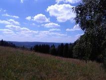 Landschap Suhl Duitsland stock foto's
