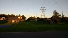 Landschap terwijl zonsondergang stock afbeeldingen