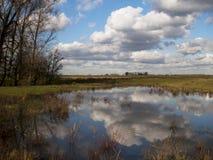 Landschap Tiengemeten Holland Stock Afbeelding