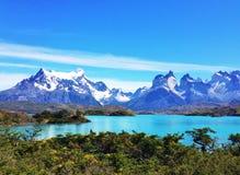 Landschap - Torres del Paine, Patagonië, Chili Stock Foto's