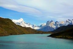 Landschap - Torres del Paine, Patagonië, Chili Stock Foto