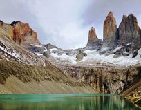 Landschap - Torres del Paine, Patagonië, Chili Royalty-vrije Stock Afbeelding