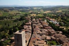 Landschap in Toscanië Stock Foto
