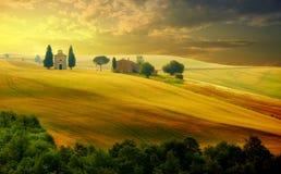 Landschap in Toscanië stock afbeelding