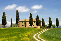 Landschap in Toscanië. Stock Foto's