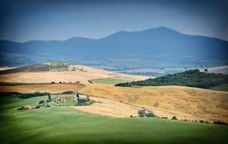Landschap, Toscanië Val D'Orcia Royalty-vrije Stock Fotografie