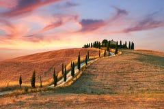Landschap, Toscanië Val D'Orcia Stock Fotografie