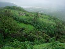 Landschap Trekkers royalty-vrije stock afbeelding
