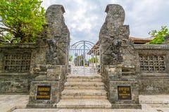 Landschap in Uluwatu-Tempel Bali Indonesië Royalty-vrije Stock Foto's