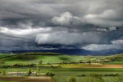 Landschap vóór het onweer Stock Fotografie