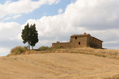 Landschap in Val d'Orcia, Toscanië royalty-vrije stock afbeelding