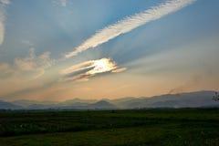Landschap van aard in Dien Bien Phu North Vietnam stock afbeeldingen
