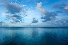 Landschap van Aitutaki-Lagune Cook Islands. Royalty-vrije Stock Foto