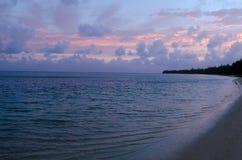 Landschap van Aitutaki-Lagune Cook Islands. Royalty-vrije Stock Fotografie