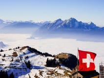 Landschap van Alpen van aan van Rigi kulm Stock Fotografie