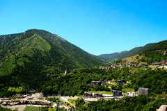 Landschap van Andorra de Pyreneeën stock foto's