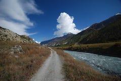 Landschap van Annapurna, Nepal Stock Foto