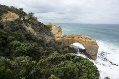 Landschap van 12 Apostelen in Grote Oceaanweg Royalty-vrije Stock Foto