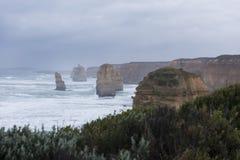 Landschap van 12 Apostelen in Grote Oceaanweg Royalty-vrije Stock Foto's