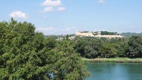 Landschap van Avignon, Frankrijk stock footage