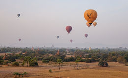 Landschap van Bagan, Myanmar royalty-vrije stock foto's