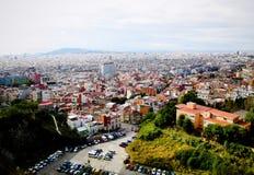 Landschap van Barcelona Stock Afbeeldingen