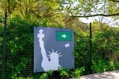 Landschap van Batterijpark in lager Manhattan, NYC Royalty-vrije Stock Afbeeldingen