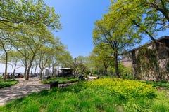 Landschap van Batterijpark in lager Manhattan, NYC Royalty-vrije Stock Fotografie