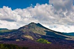 Landschap van Batur-vulkaan op het eiland van Bali Royalty-vrije Stock Afbeelding