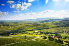 Landschap van Beaujolais, Frankrijk Stock Fotografie