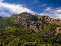 Landschap van berg Gennargentu Stock Foto's