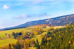 Landschap van bergen Stock Afbeelding