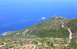 Landschap van bergen in Lakonia de Peloponnesus Griekenland royalty-vrije stock foto