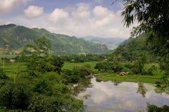 Landschap van bergvallei Royalty-vrije Stock Fotografie