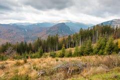Landschap van Bucegi-Bergen Stock Afbeeldingen