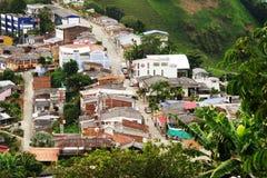 Landschap van Buenavista-stad, Quindio stock fotografie