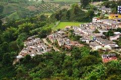 Landschap van Buenavista-stad, Quindio royalty-vrije stock foto's