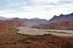 Landschap van Cafayate stock afbeelding
