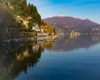 Landschap van Cannero Riviera, Lago Maggiore, Italië royalty-vrije stock afbeelding