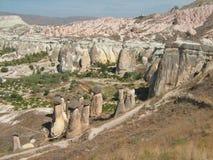 Landschap van Cappadocia Stock Fotografie