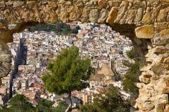 Landschap van Castillo DE San dat Juan in Blanes wordt gefotografeerd Royalty-vrije Stock Fotografie