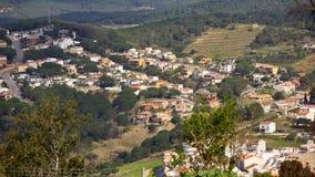 Landschap van Castillo DE San dat Juan in Blanes wordt gefotografeerd Stock Foto