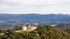 Landschap van Castillo DE San dat Juan in Blanes wordt gefotografeerd Stock Afbeeldingen